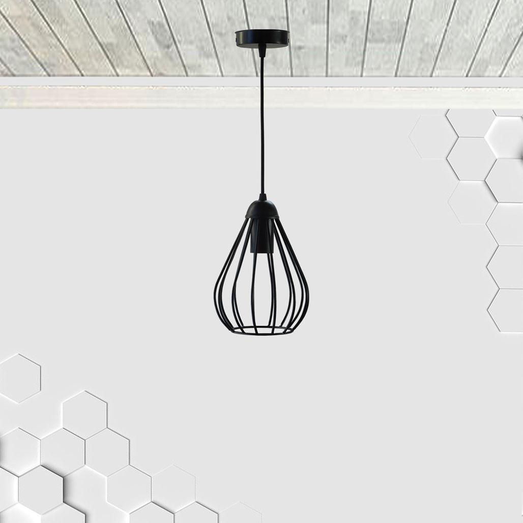 Подвесной светильник FANTASY E27 чёрный