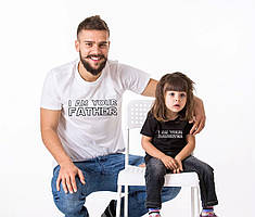 """Парні футболки Family Look. Тато і дочка""""I love my Daughter. Ilove my daddy"""" Push IT"""