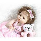 Силіконова колекційна лялька Reborn Doll Дівчинка Настуся 57 См (203), фото 2