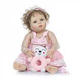 Силиконовая коллекционная кукла Reborn Doll Девочка Настенька 57 См (203), фото 3