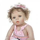 Силиконовая коллекционная кукла Reborn Doll Девочка Настенька 57 См (203), фото 4