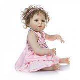 Силиконовая коллекционная кукла Reborn Doll Девочка Настенька 57 См (203), фото 5