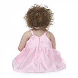 Силиконовая коллекционная кукла Reborn Doll Девочка Настенька 57 См (203), фото 6