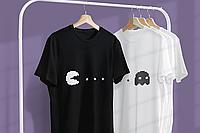 """Парные футболки для парня и девушки """"Пакмен"""""""