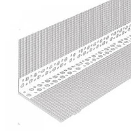 Профіль кутовий перфорований з СІТКОЮ 10х10 пластиковий, 3м, фото 2