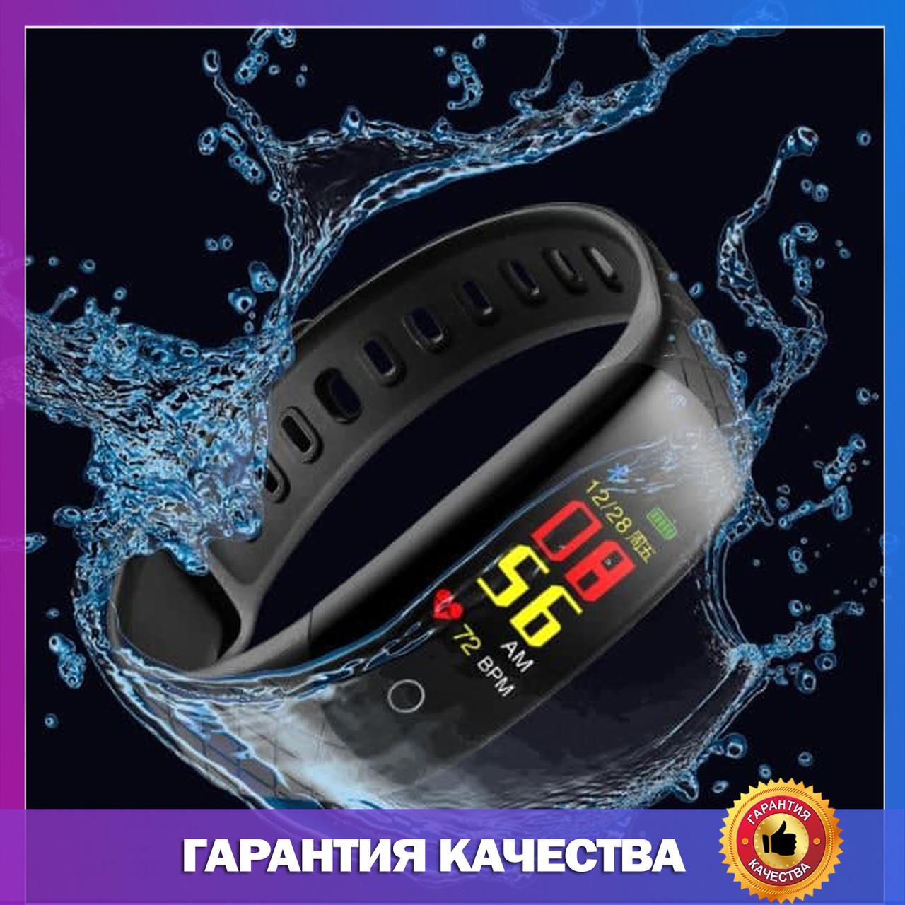 Умные Смарт часы, чоловічий годинник Smart Watch, мужские спортивные смарт-часы браслет, черные
