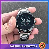 Мужские смарт часы, чоловічий годинник Smart Watch Lige, мужские металлические смарт-часы, серебро