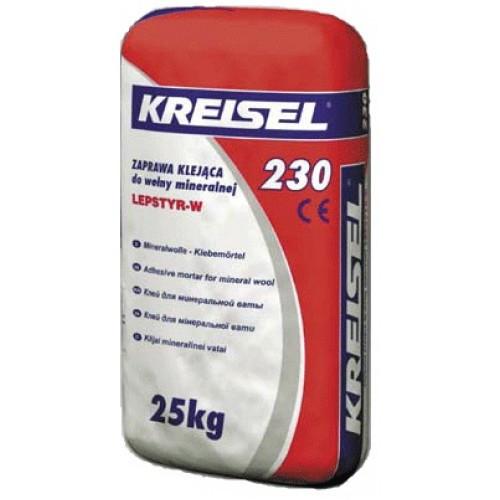 Kreisel 230 Клейова суміш для кріплення мінвати, 25кг