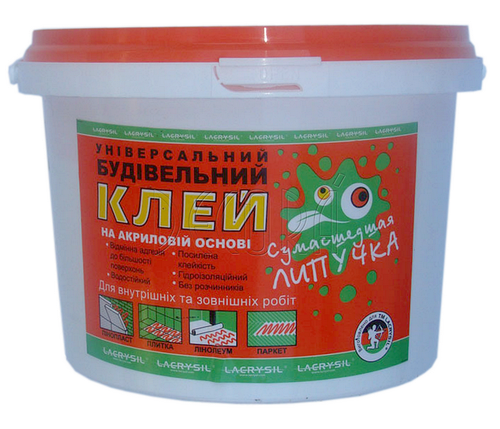 Універ. будівельний клей Сумасшедшая липучка 12 кг Україна, фото 2