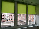 Рулонні штори Len. Тканинні ролети Льон Зелений 0873, 36, фото 5