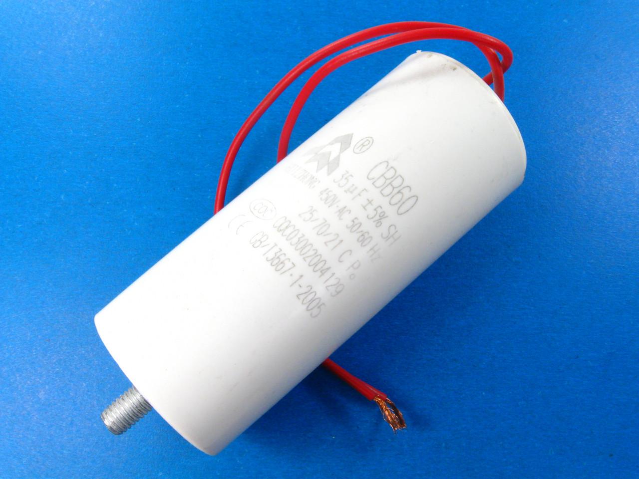 Конденсатор воздушного компрессора 35 мкФ CBB60 шпилька