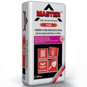 MASTER FLEX Еластичный універсальний клей для облицювання камінів і теплих підлог, 25 кг