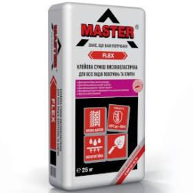 MASTER FLEX Еластичный універсальний клей для облицювання камінів і теплих підлог, 25 кг, фото 2