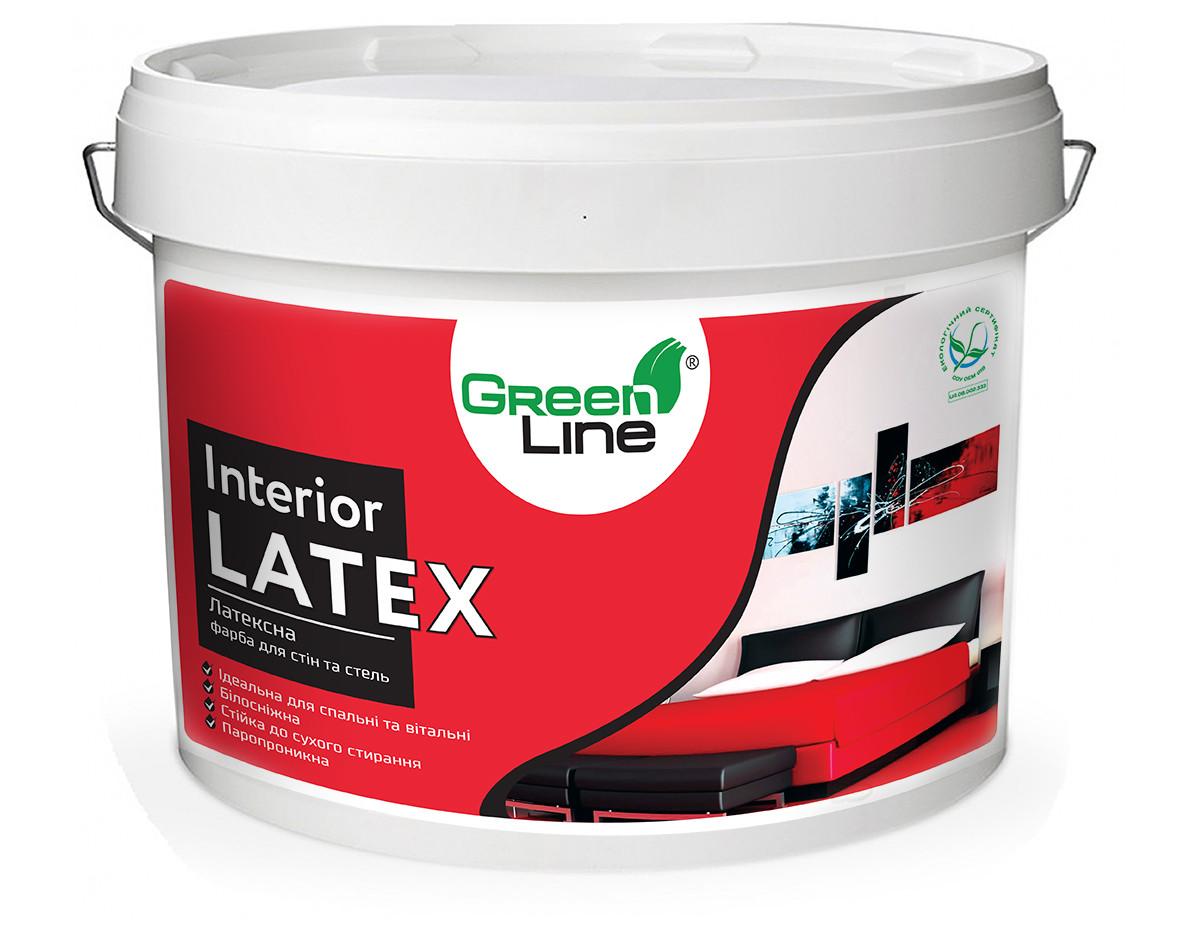 GREEN LINE Интерьерная латексная краска для стен и потолков Interior Latex 10 л