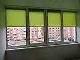 Рулонні штори Len. Тканинні ролети Льон Зелений 0873, 33, фото 2