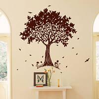 Интерьерная наклейка виниловая на обои Дерево гармонии (большие наклейки деревья, дерево для фотографий стена)