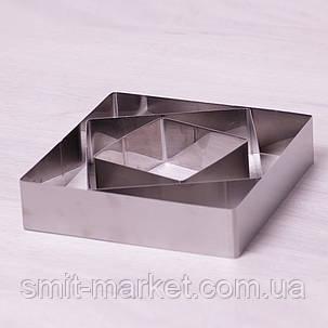 Набор из 3 квадратных форм Kamille для выкладки/вырубки 1010/1515/2020см, фото 2