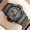 Популярные наручные спортивные часы Casio GA-5255 Black/Yellow 6073