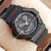 Стильные наручные спортивные часы Casio GA-5255 Black/Red 6074