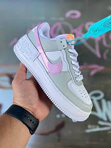 Женские кроссовки Nike Air Force Shadow Grey/Pink