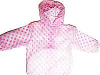 Детский Дождевик, Куртка, прозрачная в горох, Грязепруф, Lupilu 86-92