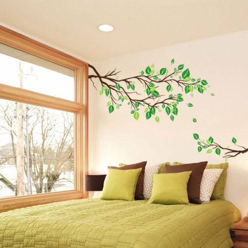 Интерьерная виниловая наклейка на обои Ветви дерева (наклейки на стену, декор, самоклеющаяся пленка оракал)