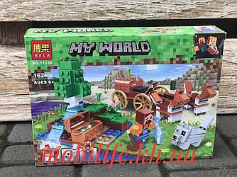 """Конструктор Майнкрафт Minecraft дет162/Конструктор my world """"Сокровищница в лесу у водопада""""/Высокое Качество/"""