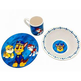 Набор детской посуды Щенячий патруль 3 предмета Фарфор Interos