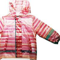 Детский Дождевик, Куртка, персиковая в полоску, Грязепруф, Lupilu 86-92