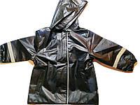 Детский Дождевик, Куртка, черная с синим рисунком, Грязепруф, Lupilu 86-92