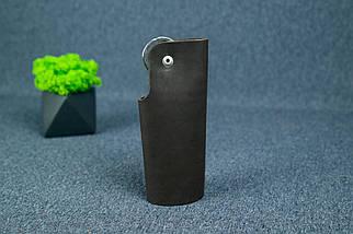 Ключниця на кнопці №16, Шкіра Італійський краст, колір Кави, фото 3