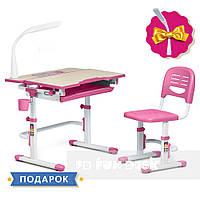 Растущая парта + стульчик для школьника Fundesk Lavoro Pink + настольная светодиодная лампа FunDesk L1, фото 1