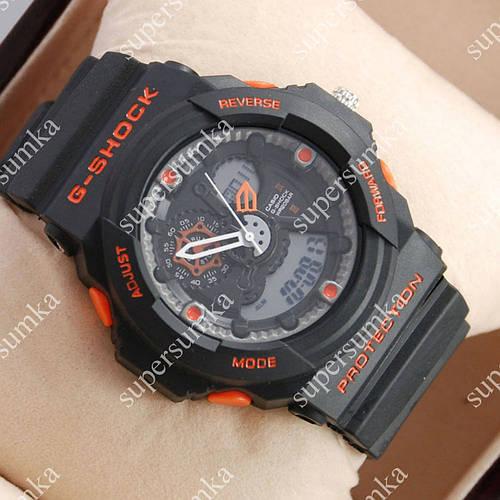 Многофункциональные наручные спортивные часы Casio GA-5255 Black/Orange 6077