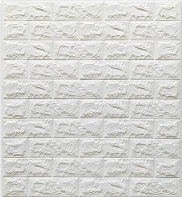 3Д панель декоративная самоклеящаяся стеновая под Белый кирпич 7 мм