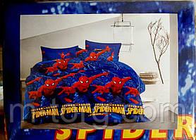 """""""людина павук"""" полуторний комплект постільної білизни 150/220 з дитячим малюнком, тканина сатин 100% бавовна"""