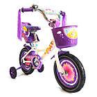 Детский велосипед Azimut Girls 14 дюймов фиолетовый, фото 2