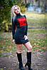 Женское платье ангора с флоком