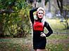 Женское платье ангора с флоком, фото 2