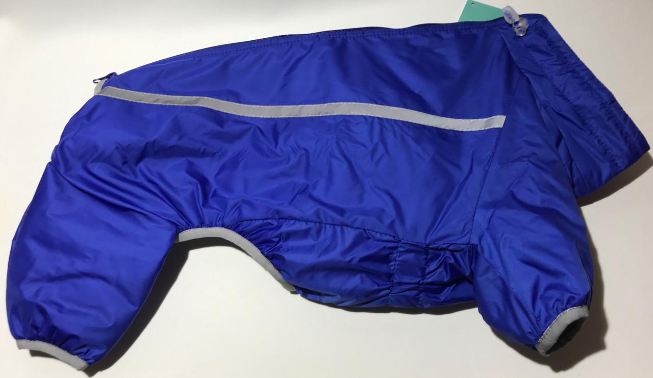 Комбінезон синтепон 58 см (об'єм до 78 см) L58 утеплений синій Collar для собак