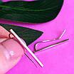 Серебряные серьги Каффы - Каффы серебро 925 - Серебряные серьги минимализм, фото 2