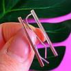 Серебряные серьги Каффы - Каффы серебро 925 - Серебряные серьги минимализм, фото 3