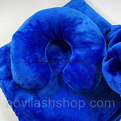 Подушка под голову клиента (махра) Цвет:  Синий электрик