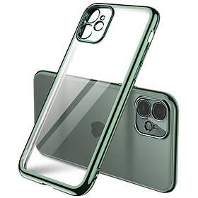 """Прозорий силіконовий чохол з глянсовою окантовкою Full Camera для Apple iPhone 11 (6.1 """")."""