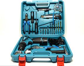 Аккумуляторная дрель-шуруповерт Makita DF 330 DWE с набором ( 0 - 350 об.мин/0 - 1350 об.мин + 2 аккумулятора)
