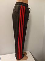 Подростковые спортивные штаны с лампасами двунитка мальчик.
