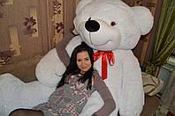 Белый плюшевый медведь Тедди 200 см