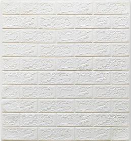 Самоклеющиеся 3Д панели, декоративные стеновые панели, Белый кирпич 5 мм