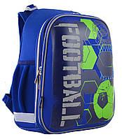 Рюкзак шкільний каркасний 1 Вересня H-12 Football Синій 555946, КОД: 1247894