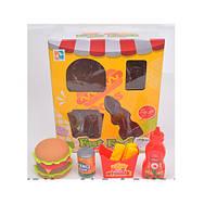 Продукты 699-24 (72шт) фаст-фуд,гамбургер, картошка,кетчуп, сок, в кор-ке, 22-25-9см