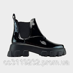 Жіночі Черевики Prada Monolith Low (Чорний) Прада Моноліт Люкс